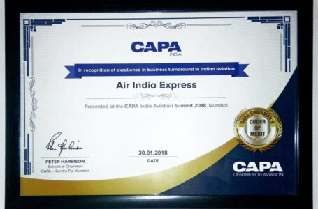 Air India Express Bags CAPA Chairman's Order Of Merit Award for Excellence