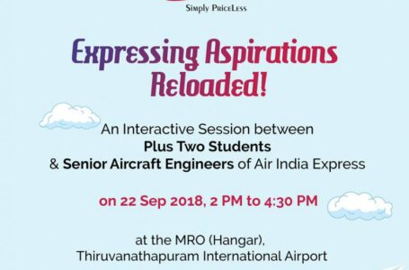 """Expressing Aspirations 2018"" – The Much Awaited And Successful Interactive Session  by Air India Express"